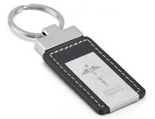 Chaveiro de Metal e Couro 93156 Personalizado