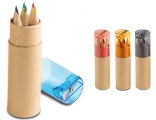 Caixa 6 Mini Lápis de Cor 91751 Personalizado