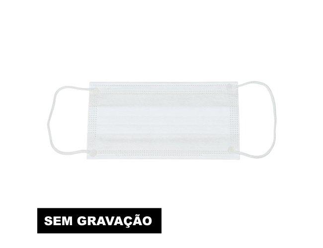 Máscara Descartável Camada Tripla com Clipe Nasal (SEM GRAVAÇÃO) 11775