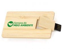 Pen Card Ecológico Bambu 4GB Personalizado 039